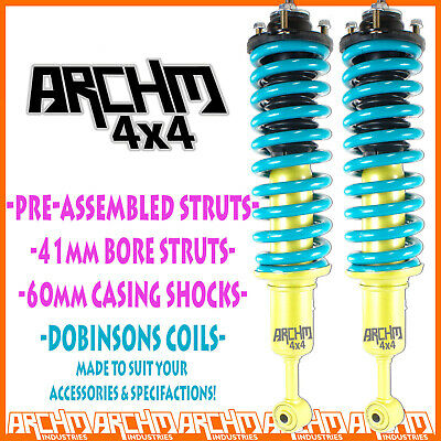 AU495 • Buy FRONT LIFT KIT ARCHM4x4 FOAM CELL STRUTS + DOBINSONS FOR NISSAN NAVARA D40 05-ON