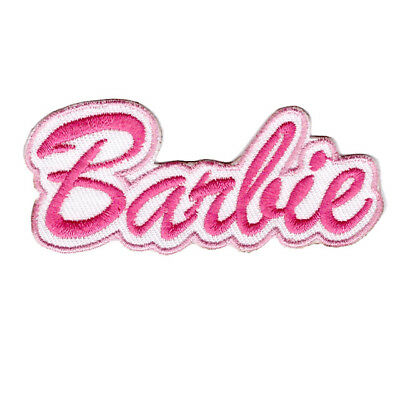 Pink Barbie Logo Iron On Patch Sew On Transfer Logo Badge - Brand New • 2.39£
