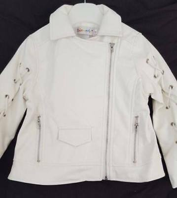 Baby Girl / Little Girl Leather Look Cream Jacket. • 19.99£