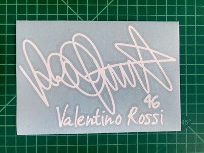 Valentino Rossi 46 Signature Stickers Motorcycle Decals Stickers Vinyl Bike  • 4.53£