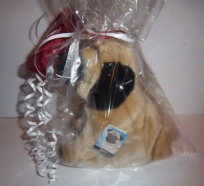 £27.95 • Buy Pug  Cuddly Collectable 12  Toy Dog Gift Wrapped With Collar + Personalised Tag
