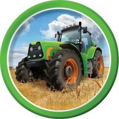 AU3.42 • Buy Tractor Time 7 Inch Paper Plates 8 Pack Farm Birthday Party Decoration