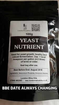 YEAST NUTRIENT 100g Home Brew And Wine Additive • 3.62£