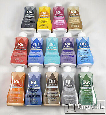 AU10.75 • Buy RIT - Liquid DyeMore Synthetic Fabric Dye More - 207ml - 14 Colours To Choose