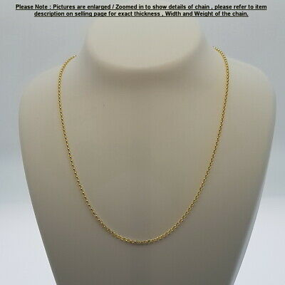 AU339 • Buy Genuine Brand New 9K Solid Italian Yellow Gold Chain Necklace 45,50,55 And 60 Cm