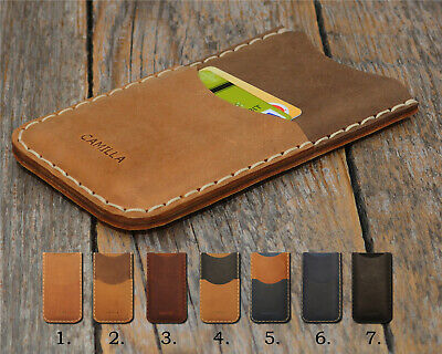 $ CDN78.84 • Buy Personalized Xiaomi Leather Cover Engrave Your Name Sleeve Credit Card Pocket