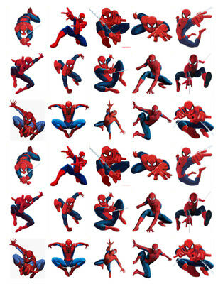 £2.95 • Buy Spiderman 30 Birthday Edible Stand Up Cake Toppers Premium Wafer Card