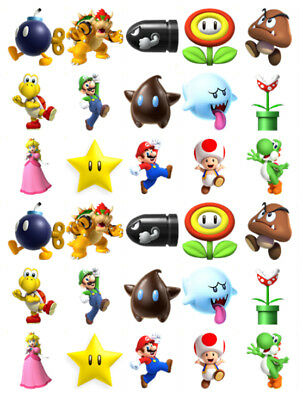 £2.95 • Buy Super Mario 30 Birthday Edible Stand Up Cake Toppers Premium Wafer Card