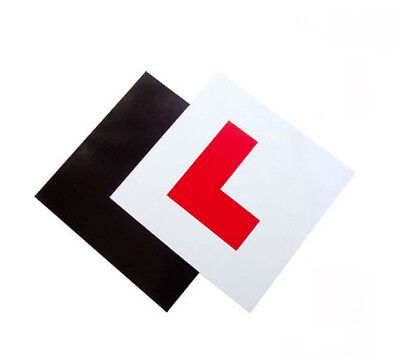 2 Pack Premium Fully Magnetic L Plates Extra Thick Strong Learner Plates Driver  • 2.49£