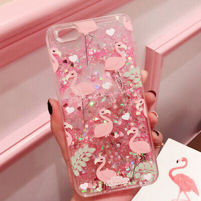 AU12.68 • Buy Cute Flamingo Quicksand Soft TPU Liquid Case Girl Kid Cover For IPhone X 8 7 6s