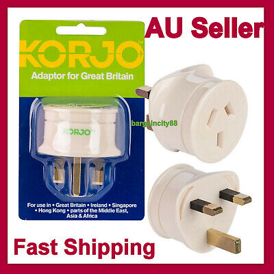 AU21.84 • Buy Travel Adaptor From Australia & New Zealand Travel To UK England Great Britain