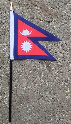 £12.99 • Buy NEPAL PACK OF 12 SMALL HAND FLAGS Flag 6 X4  With 10  Pole
