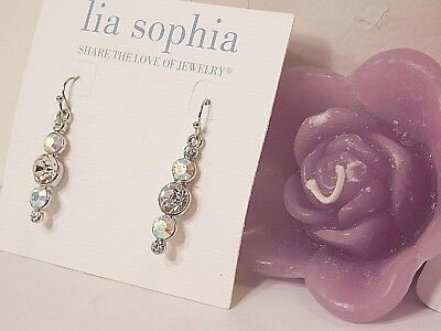 $ CDN18.92 • Buy Beautiful Lia Sophia  RAZZLE DAZZLE  Dangle Earrings, Cut Crystals, NWT