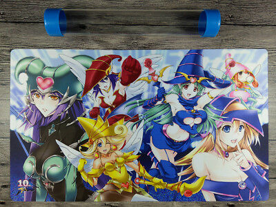AU32.37 • Buy 10th Dark Magician Girl YuGiOh Duel Battlefield Playmat TCG Mat Free Best Tube