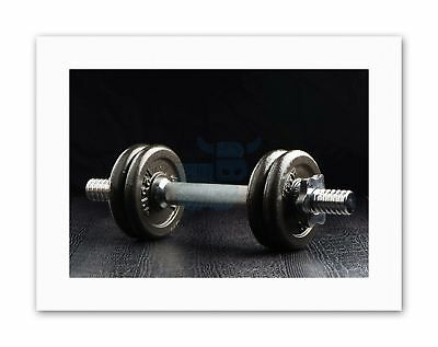 EXERCISE WEIGHTS DUMBELLS FITNESS Sport Canvas Art Prints • 12.50£
