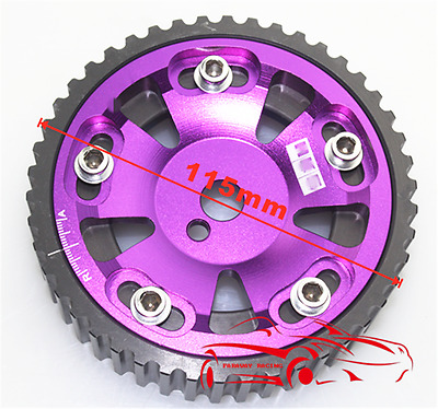 $29.90 • Buy Cam Pulley For MITSUBISHI 4G93 Engine Adjustable Aluminum Gear Purple