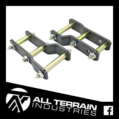 AU109 • Buy Mitsubishi Triton Ml/mn 05-15 Extended Greasable Shackles 2  Inch 50mm Lift Kit
