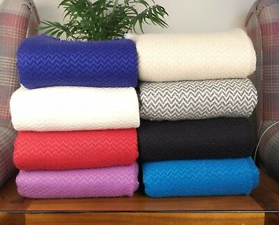 New Soft And Warm Cashmere Wool Sofa Throws Travel Throw Chair Hand-Woven • 79.99£