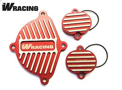 160cc CNC ENGINE DRESS UP KIT W Racing  CW Bikes Pitbike Wpb YX160 Dirt RED • 29.99£