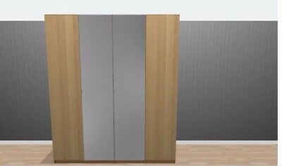 Bedroom Wardrobe With 4 Doors , 2 Chest Of Drawers And A Hanging Rail • 275£