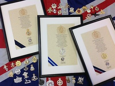 Oath Of Allegiance British Infantry Units (framed With Cap Badge) • 48£