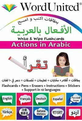 WordUnited - Actions In Arabic – Write & Wipe Flashcards • 7.99£