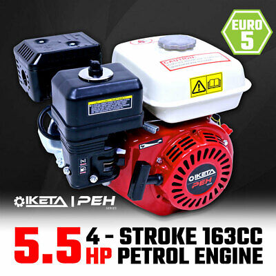 AU168 • Buy 5.5HP OHV Petrol Engine Stationary Motor Horizontal Shaft Recoil Start