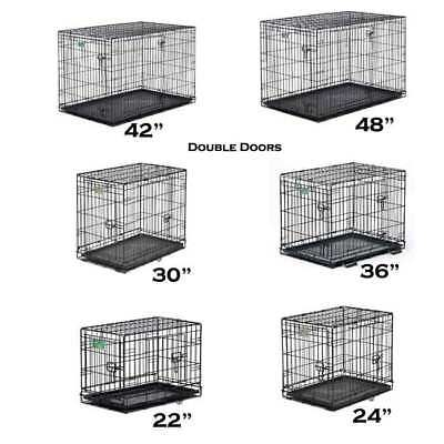 £45.95 • Buy Midwest Dog Double Door I-Crate Black Dogs Pets Cage