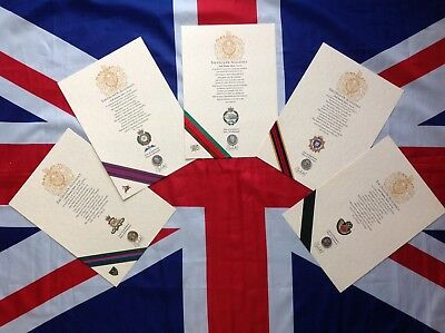 Oath Of Allegiance British Infantry Units (unframed With Printed Cap Badge) • 17£