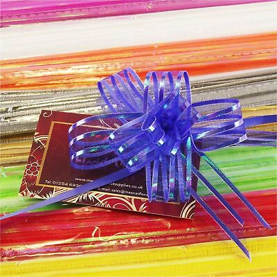 18mm Organza Butterfly Pull Bows Pack Of 10 Premium Voile Pullbows  • 3.20£