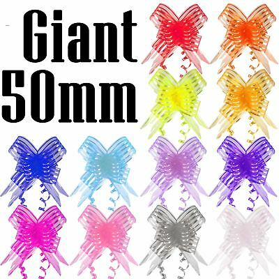 Giant 50mm Organza Butterfly Pull Bows - Craft Florist Pullbow Pew Craft Gift • 1.49£