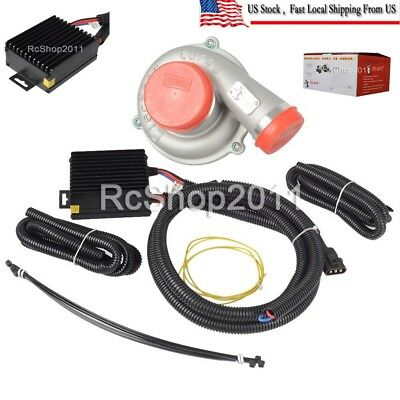 Electric Turbo Supercharger Air Filter Intake Fr Car Improve Sd Fuel Saver Us 380 04