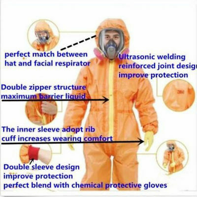 New Protective Coverall Chemical Liquid Nuclear Radiation Protection Suit  BI • 82$
