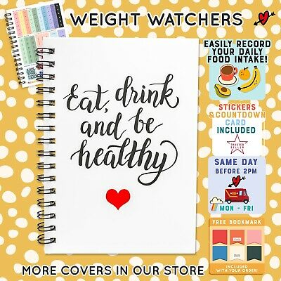 Food Diary Diet Journal Weight Watchers Compatible Weight Loss Tracker BOOK C22 • 6.45£