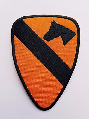 US Army 1st Cavalry Division Airborne Insignia - Iron On Patch Sew Transfer • 2.99£