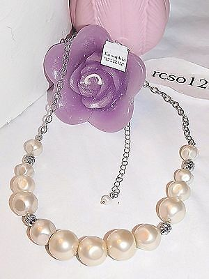 $ CDN20.35 • Buy Beautiful Lia Sophia  SYMPHONY  Pearl Necklace, 17-22  Long, NWOT