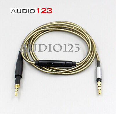 £17.89 • Buy Silver Plated OFC Mic Volume Control Cord  Cable For AKG K450 K451 K480 Q460