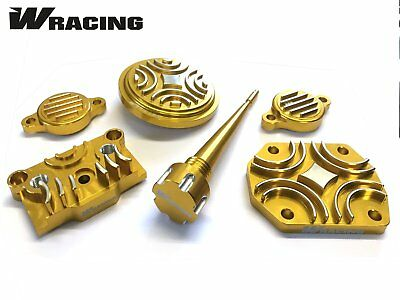 YX140 CNC ENGINE DRESS UP KIT W Racing  CW Bikes Pitbike Wpb Dirt GOLD • 29.99£