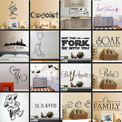 WALL STICKERS! Interior Decal Transfer Home Art Vinyl Decor Quote Sticker UK* • 7.99£