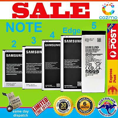 AU13.95 • Buy Genuine Original OEM Battery Replacement For Samsung Galaxy Note 2 3 4 Edge 5 AU