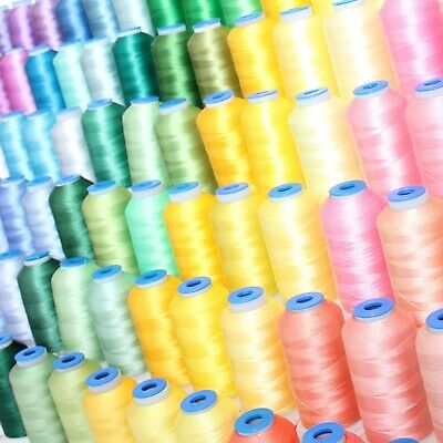 $1.99 • Buy Individual Cones Of Polyester Machine Embroidery Thread - 1000m - 200+ Colors