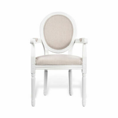 AU299 • Buy Set Of 2 French Provincial Louis Style Upholstered Dining Armchair Kitchen Chair