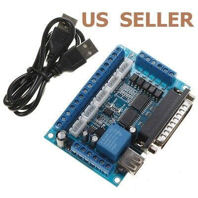 $11.36 • Buy 5 Axis CNC Interface Adapter Breakout Board For Stepper Motor Driver Mach3 W/USB