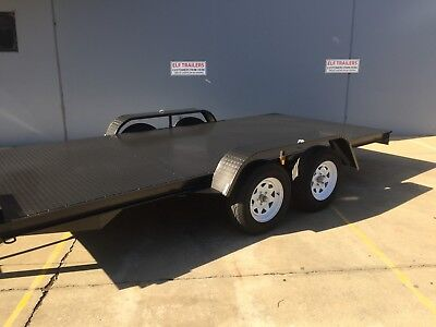 AU3130.77 • Buy Brand New Flat Bed Car Trailer 14ft Tandem Dual Axle Upgraded Model Elf Trailers