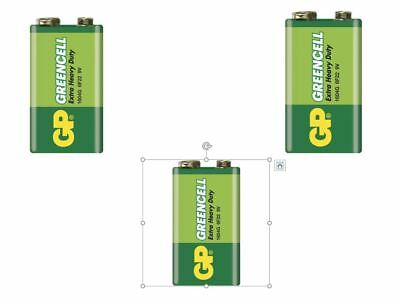 £3.25 • Buy 3x 9V PP3 BATTERY GP GREENCELL EXTRA HEAVY DUTY - For Low Drain Devices