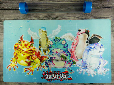 AU32.37 • Buy YuGiOh Frog Custom Playmat TCG CCG Master Rule 4 Link Zones Mat Free Best Tube