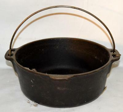 $ CDN60.40 • Buy Wagners 1891 Original Cast Iron 5 Qt Dutch Oven With Bail Handle No Lid ~SS
