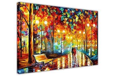 £9.99 • Buy AT54378D Rains Rustle By Leonid Afremov Canvas Wall Art Print Home Deco Pictures