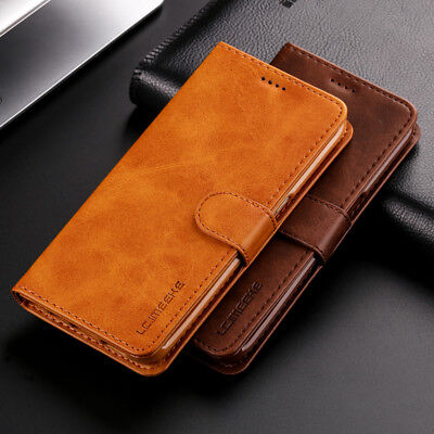 $ CDN8.59 • Buy Lxury Genuine Real Leather Flip Wallet Stand Case Cover For Various Cell Phone