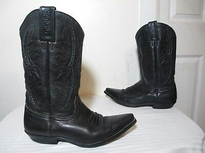 Sancho Women's Black Braided Leather Western Boots Made In Spain Sz 7½ • 50.17£